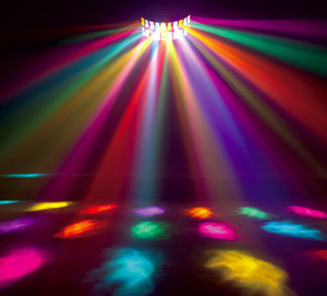 Festive colored lights at no additional cost to the Bride